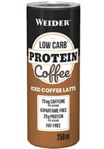 Joe Weider Low Carb Protein Coffee, 24 x 250 ml Dose, Iced Coffe Latte