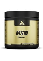 Peak Perfomance MSM mit Vitamin C, 120 Kapseln Dose